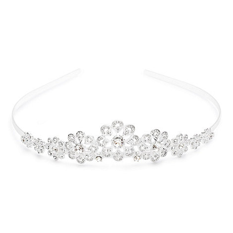 Alan Hannah Devoted - Sparkling crystal filigree flower tiara