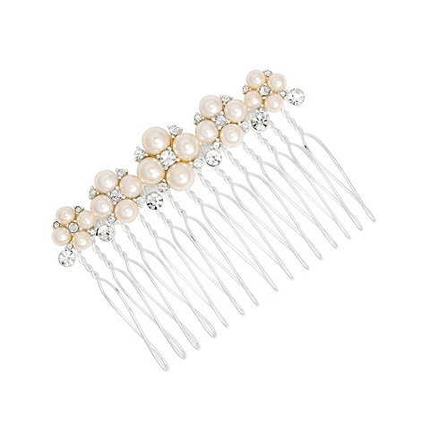 Alan Hannah Devoted - Crystal and pearl cluster hair comb