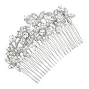 Vintage multi flower pave crystal hair comb