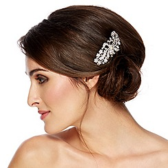 Jon Richard - Vintage swirl ribbon and crystal flower hair comb