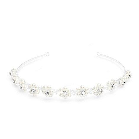 Jon Richard - Crystal encased pearl flower headband