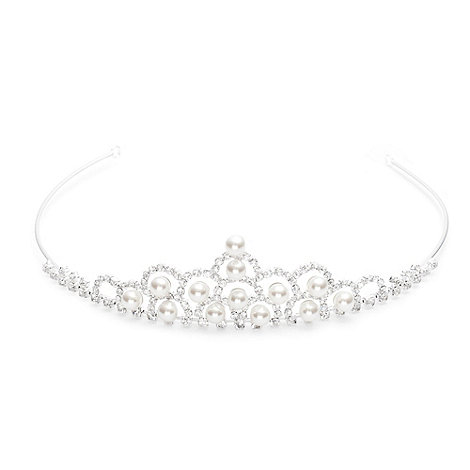 Jon Richard - Pearl and diamante crystal children's tiara
