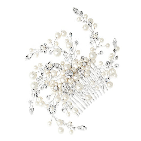 Jon Richard - Sparkling crystal and pearl spray comb