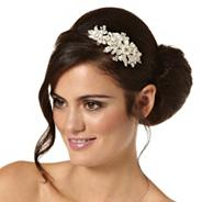 Decorative crystal daisy and mini pearl headband