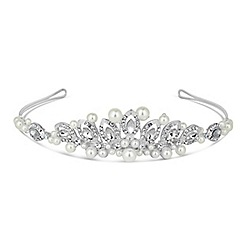 Jon Richard - White pearl lydia wrapped tiara