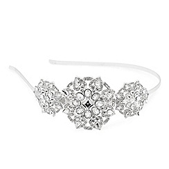 Jon Richard - Luxe statement triple mixed crystal stone headband