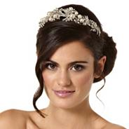 Luxe vintage statement crystal and pearl spray headband