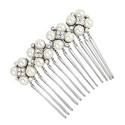 Alan Hannah Devoted - Four pearl and crystal hair comb