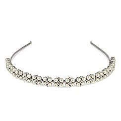 Alan Hannah Devoted - Four pearl and crystal headband