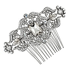 Jon Richard - Vintage style crystal square stone hair comb