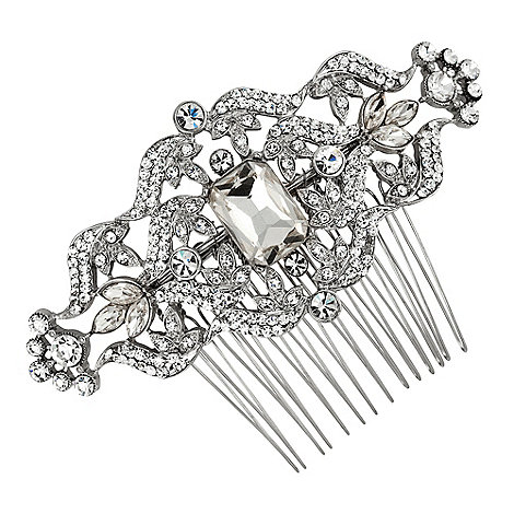 Jon Richard - Vintage style crystal square stone hair comb