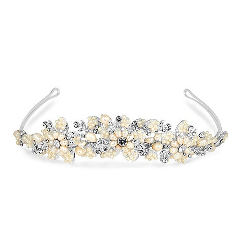 Alan Hannah Devoted - Freshwater pearl and mini pearl tiara