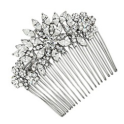 Alan Hannah Devoted - Navette crystal flower hair comb
