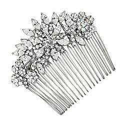 Alan Hannah Devoted - Navette crystal flower hair comb