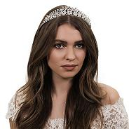 Diamante crystal and facet bead tiara