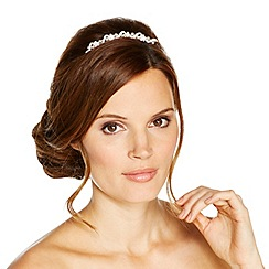 Jon Richard - Crystal flower and pearl set hair comb