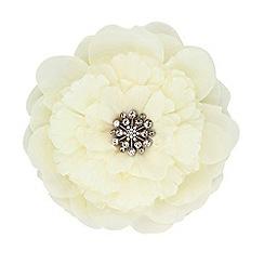 Jon Richard - Large cream floral fabric corsage