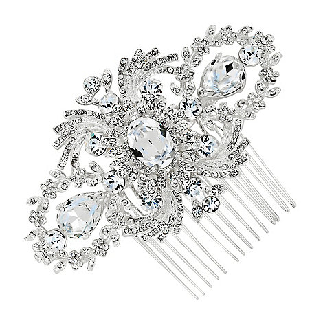 Jon Richard - Statement crystal embellished vintage hair comb