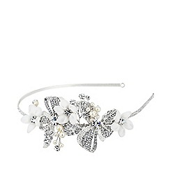 Alan Hannah Devoted - Designer silk flower freshwater pearl headband