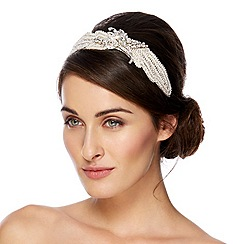 Alan Hannah Devoted - Sienna vintage crystal and pearl fabric headband