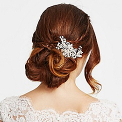 Jon Richard - Pearl and crystal floral spray hair comb