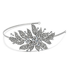 Jon Richard - Evelyn vintage crystal leaf headband