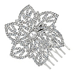 Jon Richard - Diamante crystal flower hair slide