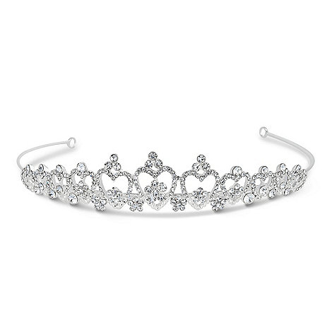 Jon Richard - Mini crystal embellished heart tiara
