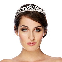 Jon Richard - Statement regal inspired crystal embellished tiara