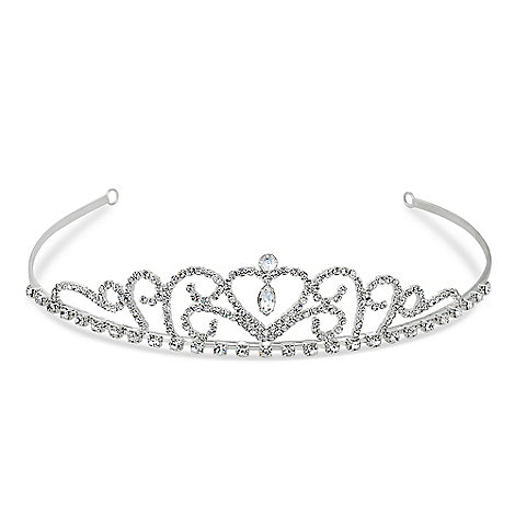 Jon Richard - Diamante crystal and heart swirl tiara