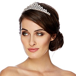 Jon Richard - Statement multi crystal flower tiara