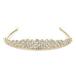 Jon Richard - Online exclusive gold tiara made with SWAROVSKI ELEMENTS