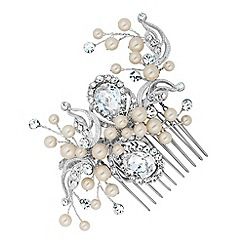 Alan Hannah Devoted - Designer peardrop and pearl hand wrapped comb