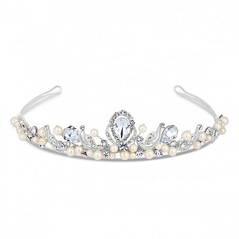 Alan Hannah Devoted - Designer peardrop crystal and pearl hand wrapped tiara