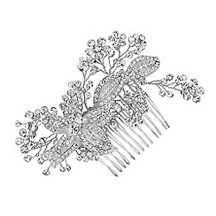 Alan Hannah Devoted - Designer crystal flower spray comb