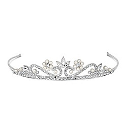 Jon Richard - Childs pearl and crystal flower tiara