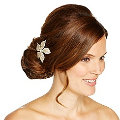 Jon Richard - Diamante crystal gold flower hair comb