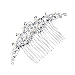 Jon Richard - Isabella pearl and crystal hair comb
