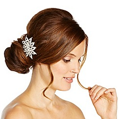 Jon Richard - Crystal and pearl sunflower style hair comb