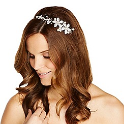 Jon Richard - Graduated pearl and crystal embellished flower headband