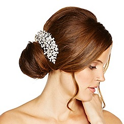 Jon Richard - Pearl and multi crystal flower hair comb