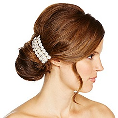 Jon Richard - Pearl and aurora borealis diamante flower barrette