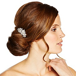 Jon Richard - Crystal flower and navette hair comb