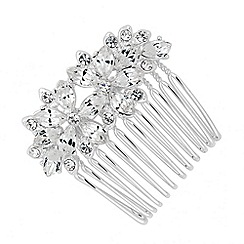 Alan Hannah Devoted - Designer navette crystal flower hair comb