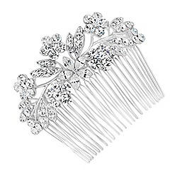 Jon Richard - Large mixed crystal flower hair comb