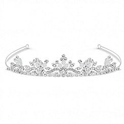 Jon Richard - Crystal flower and facet bead embellished tiara