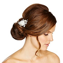 Jon Richard - Cream fabric flower spray hair pin