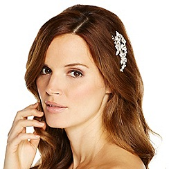Jon Richard - Textured flower and crystal set hair clip