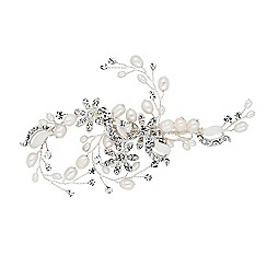 Alan Hannah Devoted - Designer freshwater pearl and flower hair clip