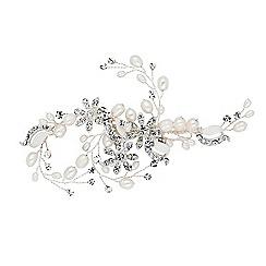 Alan Hannah Devoted - Designer freshwater pearl and flower hair clip